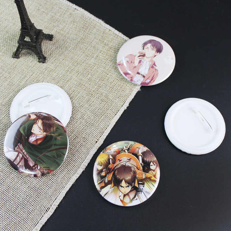 1 adet Anime Titan Shingeki hiçbir Kyojin broş akrilik simgeleri rozetleri