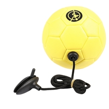 Football Training Ball Kick Soccer Tpu Size 2 Kids Adult Futbol with String Beginner Trainer Practice Belt,Yellow Color
