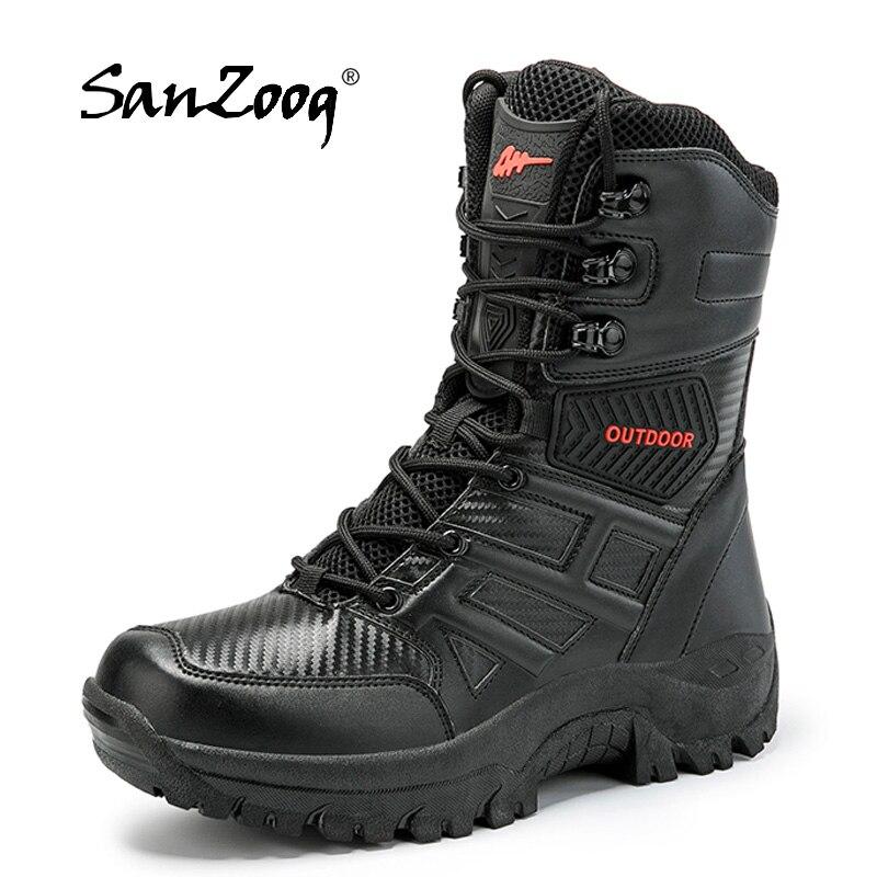 Waterproof Outdoor Men Military Tactical Boots Botas Tacticas Militar Hombre Bota Tatica Hunting Swat Jungle Combat Shoes Hiking