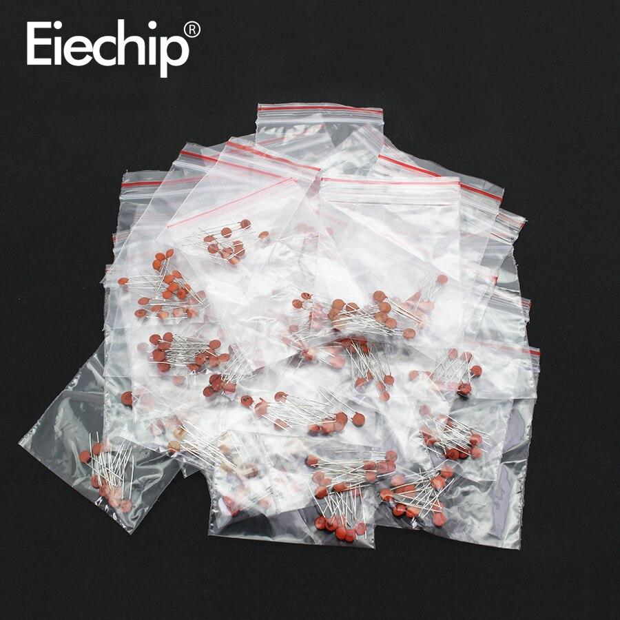 300 pçs/lote conjunto de capacitor de cerâmica pacote 2pf-0.1uf 30 valores * 10pcs componentes eletrônicos pacote capacitor sortido kit amostras diy