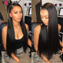 Straight Full Lace Human Hair Wig For Women Fake Scalp Trans