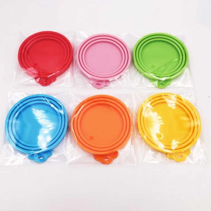 Silicone Can Lid Food Tin Cover Cans Cap Pet Supplies Keep Fresh Reusable Hot~