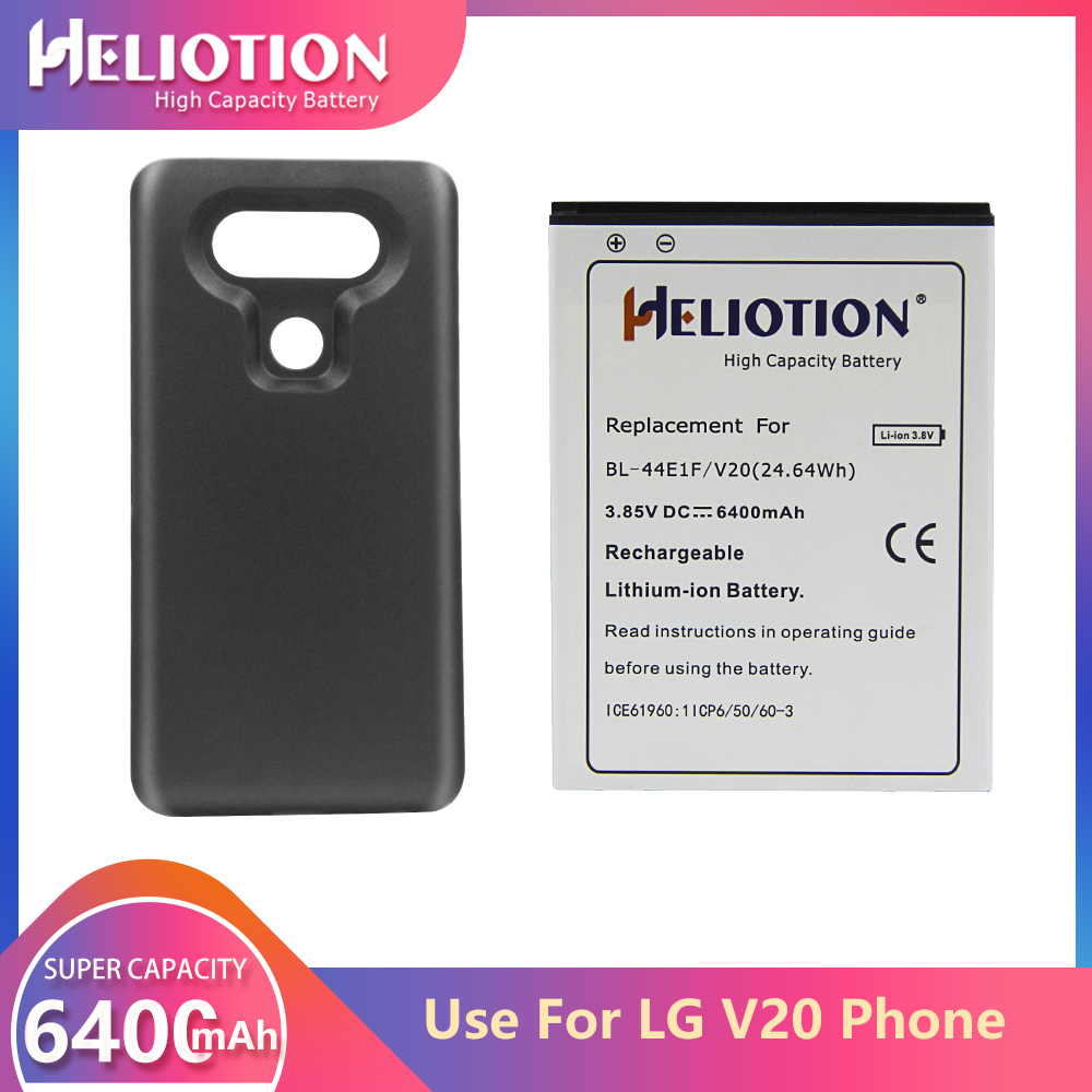 LG V20 Battery 6400mAh For LG Phone Replacement Battery BL-44E1F H915 H910 H990N US996 F800L With Back Cover Case