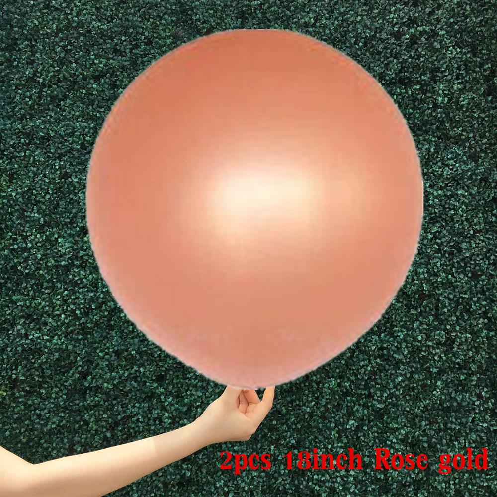 2pcs 18inch Rose Gold Confetti Balloon And Inflatable Clear Latex Balloons For Party 2