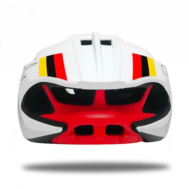 Aero capacete triathlon capacete da bicicleta tt estrada capacete para homens mulheres corrida ciclismo capacete mtb casco equipamentos 5