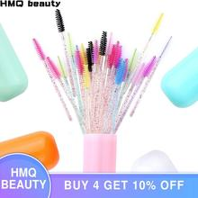 30Pcs Disposable Crystal Eyelash Brush Pill Container Mascara Stick Applicator Grafting Eyelashes Beauty Makeup Tool Anti-dust