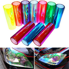 1Pc 30*60cm Car Headlight Film Tail Light Film Scratch Resistant Water-Resistan Chameleon Car Sticker Styling Accessories car styling decoration 1pc 12x78 chameleon clear car headlight tail fog light vinyl tint film wrap uv protector