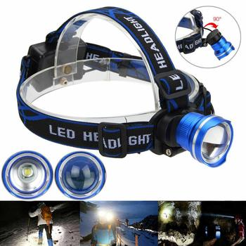 超高輝度ヘッドランプ Led ヘッドランプ T6 によるズーム可能なヘッドライトヘッドトーチ懐中電灯ヘッドランプ 18650 バッテリー釣り狩猟|アウトドア ツール|スポーツ & エンターテイメント -