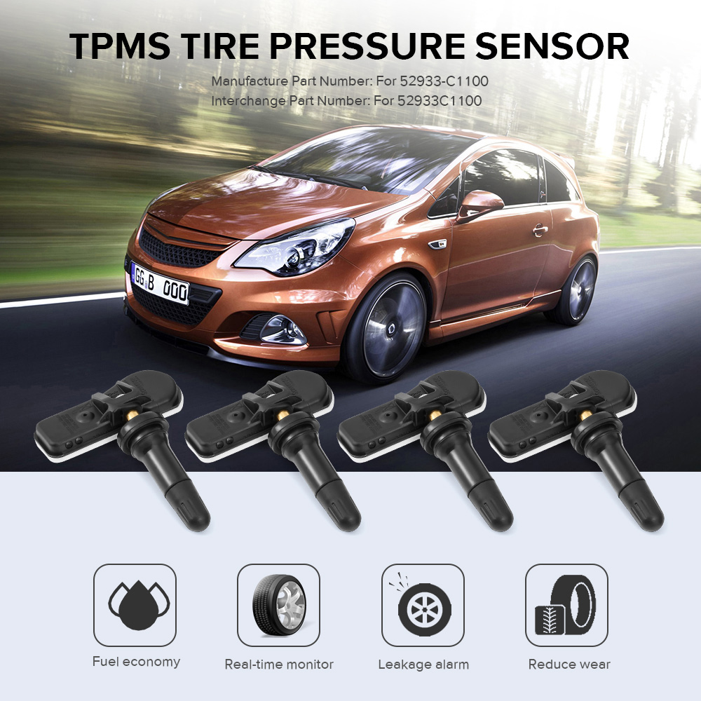 Image 2 - 4PCS Tire Pressure Monitor Systems 52933C1100 Tpms Sensor Car Styling standard Car Tire Pressure Tool for Hyundai-in Pressure Sensor from Automobiles & Motorcycles