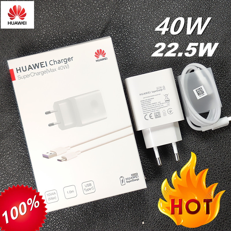 Original Huawei Charger 40W 22.5W Supercharge 5A Type C Cable For P30 Pro Mate 30 20 10 20 Pro P20 Pro P10 Honor 20 Magic 2 10