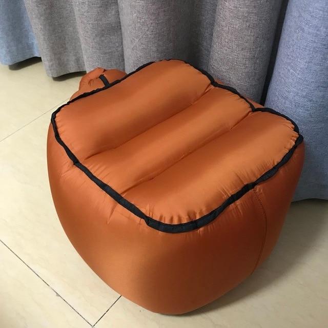 النايلون نفخ البراز كرسي الهواء للطي المحمولة مقعد الصيد أثاث للحدائق الخارجية التخييم المشي لمسافات طويلة الشاطئ الراحة أريكة
