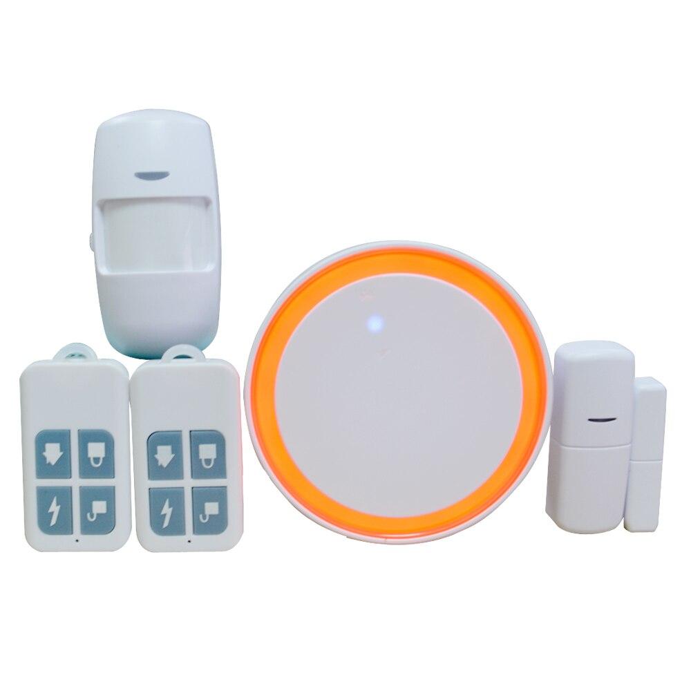 Домашняя умная беспроводная wifi сигнализация Tuya 433 МГц GSM сигнализация PIR детектор движения дверной контакт Открытый датчик Вспышка Сирена