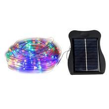 все цены на 10M 100 LED Solar String Lights Christmas Tree Garland Waterproof Solar String Fairy Lights Outdoor Garden Valentines Decoration онлайн