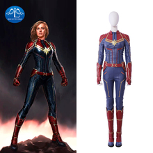 Manluyunxiao Captain Marvel Cosplay Halloween Costumes For Women Superhero Jumpsuits Carol Danvers Outfit Custom Made