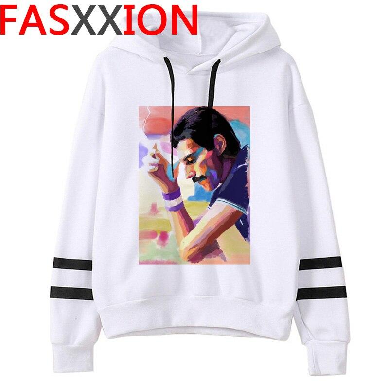 Freddie Mercury Autumn Winter Hoodie Men  Hip Hop Funny Sweatshirts 2020 The Queen Band Hoodies  Harajuku 90s Hoody Male