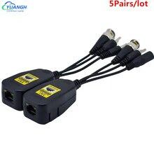 5 coppie HD 8MP potenza passiva Video Balun Audio a connettore RJ45 convertitore fornitura ricetrasmettitore passivo per sistema di telecamere a circuito chiuso