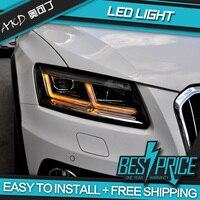 akd Car Styling for Audi Q5 Headlights 2009 2018 Q5 All LED Headlight DRL LED Lens Double Beam lens