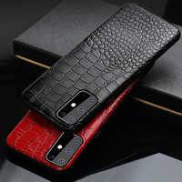 Genuine Leather Case Telefone Para Samsung Galaxy S20 Ultra S20 S20 Plus A50 A51 A70 A60 S10 S10plus S9 note10 note9 A7 A8 A9 Capa