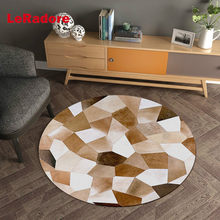 Polyester Hotel Parlor Carpet for Office Anti-slip Decor Area Rug for Hardwood Floor Geometric Pads Many Sizes Tapete Para Sala(China)