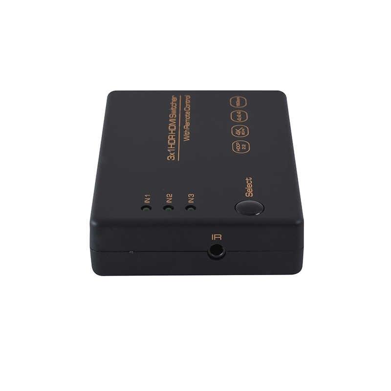 جديد HDMI الجلاد 4k 60hz مقسم الوصلات البينية متعددة الوسائط وعالية الوضوح (HDMI) مع 3 منافذ الإدخال و 1 منفذ إخراج 4k HDR الجلاد للتلفزيون الكمبيوتر HDMI الجلاد