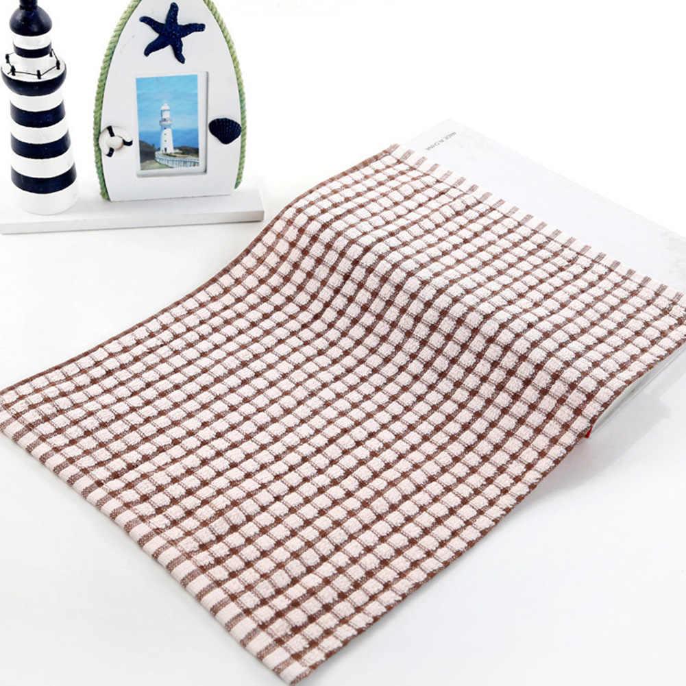 到着ソフトチェック柄吸収キッチンテーブル布巾綿クリーニング綿のティータオル茶タオルはきれいに簡単と無臭