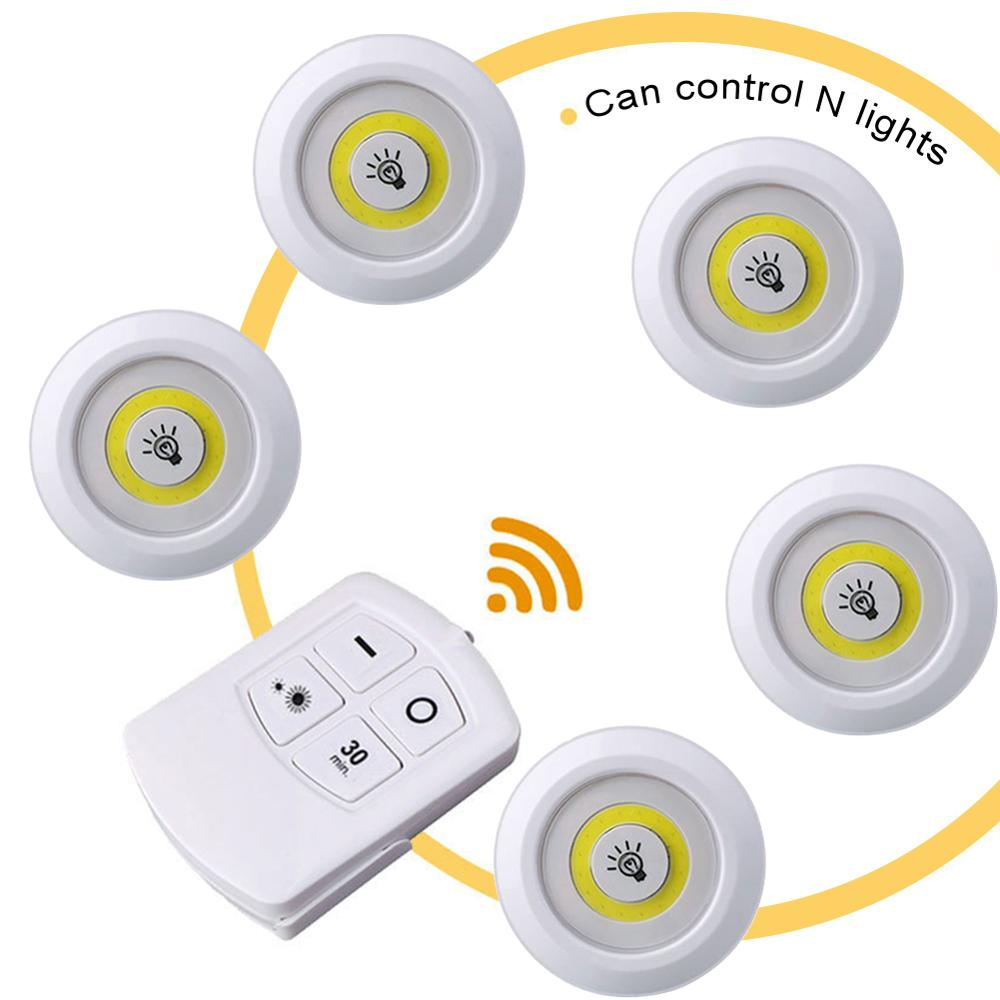 Light Wireless Household Wall Remote Control Pat Cob 5/3/1PCS  Led Bedroom Cabinet Bedside Touch Night