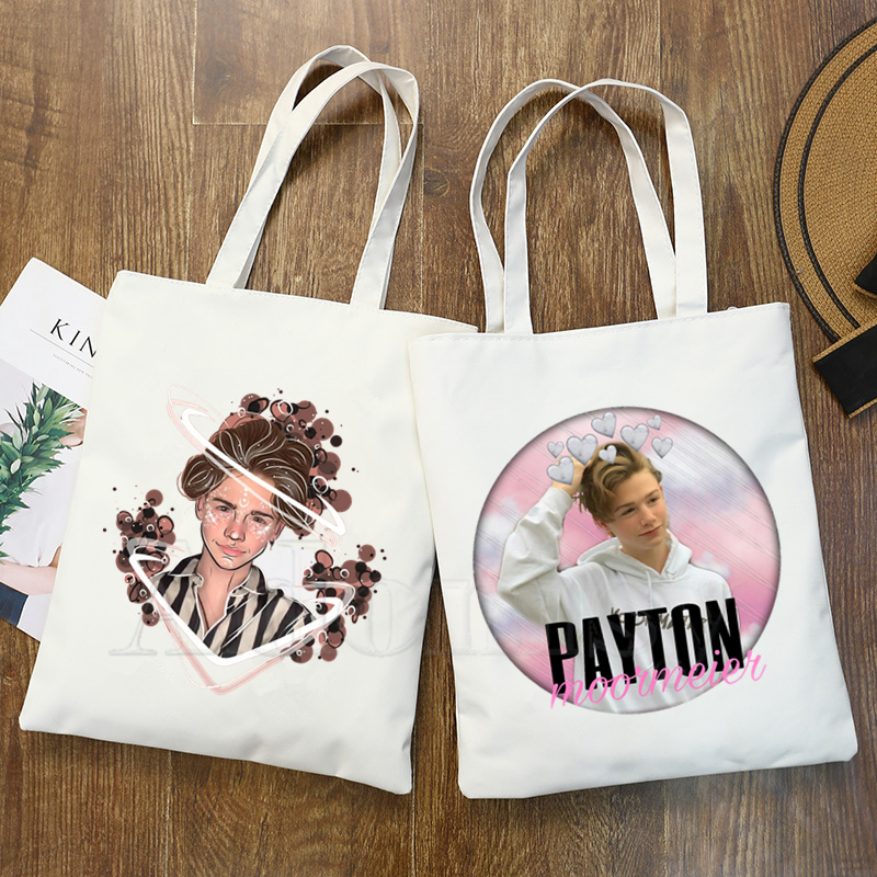 Payton Moormeier New Female Handbags Hot Selling Fashion Handbag Canvas Bag Tote Ladies Casual Shoulder Bag Reusable Shop Bags