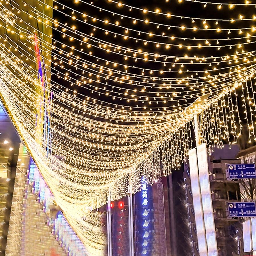 100 LED Solar Powered Fairy Light String Dual White Outdoor Garden Wedding Party