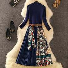 Высокое качество дизайнерское Женское зимнее платье Модная одежда