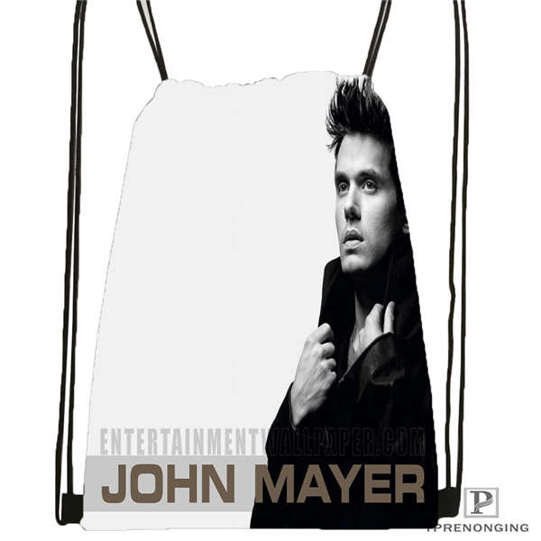 Custom John-mayer-@01- Drawstring Backpack Bag Cute Daypack Kids Satchel (Black Back) 31x40cm#180611-03-125