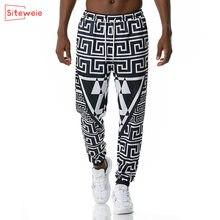 Siteweie vintage sweatpants men 3d impresso indiano streetwear calças de lápis dos homens casual comprimento total corredores calças esportivas g471