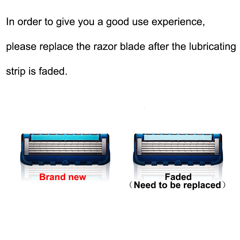 Men Manual Shaving Razor Blades 5 Layers Stainless Steel Replacement Heads For Gillettee Fusione 20pcs/Pack Shaving Cassettes 5