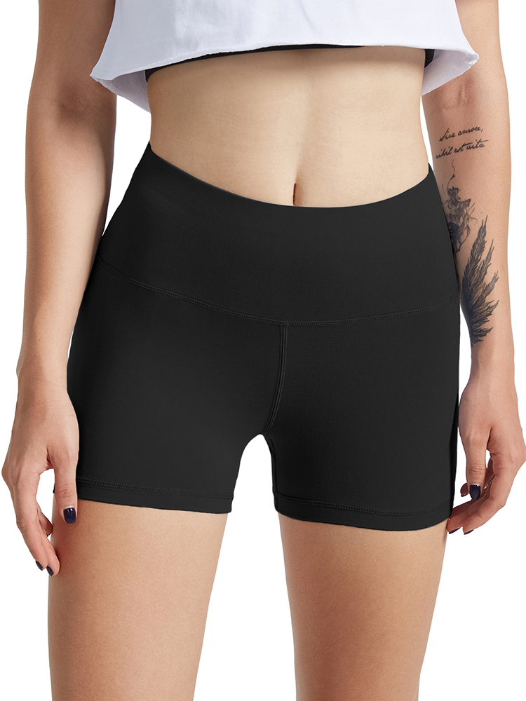 Fitness Shorts Clothing Elasticity Seamless Workout Female High-Waist Women Breathable