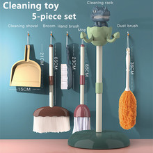 Kids Toys Brooms Housework-Tool-Kit Miniature Pretend-Play-Cleaning for Girls Dinosaur
