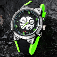 KAT-WACH fashion sports electronic men's watch multi-function waterproof luminous sports dual display Chronograph watch men male все цены