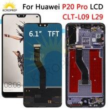 """Tft Voor Huawei P20 Pro Lcd Touch Screen Digitizer Vergadering P20 Pro Lcd Met Frame 6.1 """"Voor Huawei p20 Pro Screen Vervangen"""
