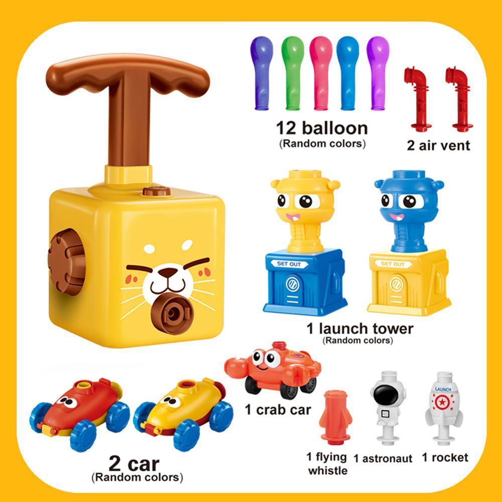 Новый инерционная воздуха Мощность шар автомобилей с ракетой, прежде Летающий Мощность ed автомобиль весело образовательные игрушки для на...