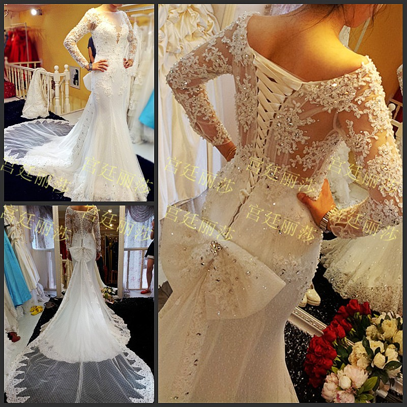 Real Picture 2018 Vestido De Noiva Popular Sexy Beads Crystal Custom Made Free Shipping Bridal Gown Mother Of The Bride Dresses