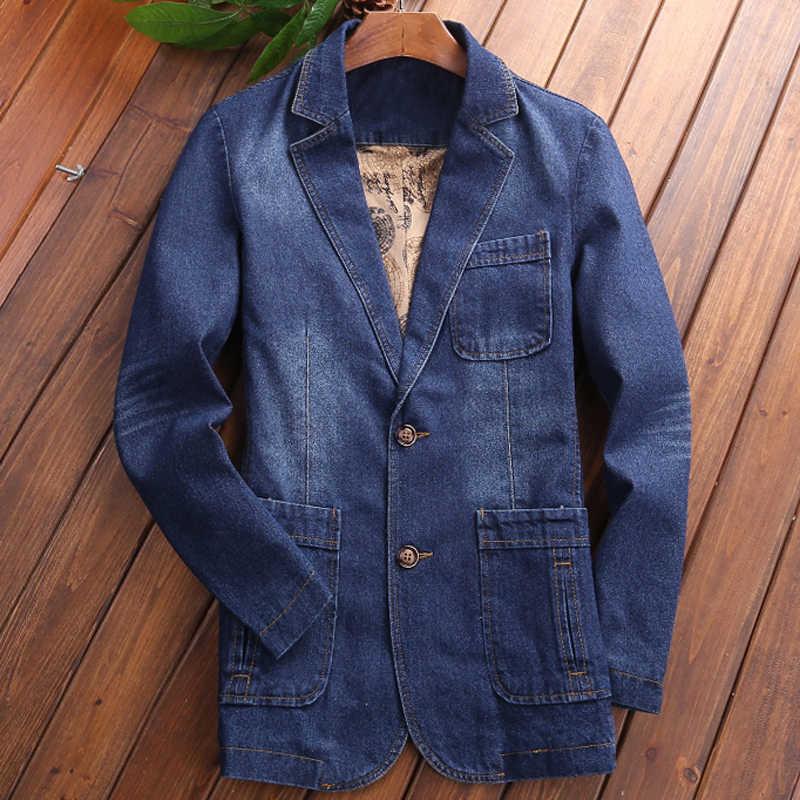 유럽과 미국 스타일의 망 드레스 정장 재킷 봄 가을 군사 4xl 남자 청바지 재킷 코트 여름 c2101을 overcoats
