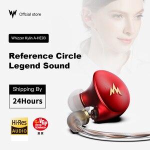 Image 2 - Kulaklık A HE03 HiFi bas kulaklık yüksek çözünürlüklü kulaklıklar hibrid armatür 2Pin konektörü 3.5mm kulak monitörler HiFi kulaklıklar kulaklı