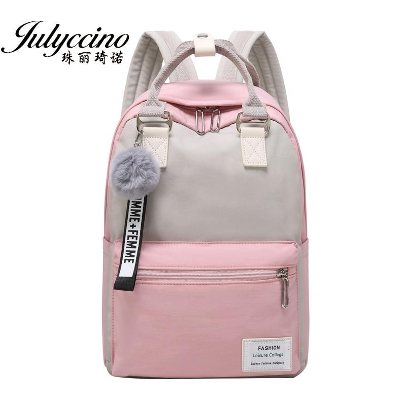 JULYCCINO New Waterproof Nylon Backpack For Women School Shoulder Bag Bagpack For Teenage Girls Female Travel Backpacks Mochila