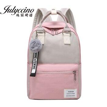 JULYCCINO New Waterproof Nylon Backpack for Women School Shoulder Bag Bagpack Teenage Girls Female Travel Backpacks mochila - discount item  49% OFF Backpacks