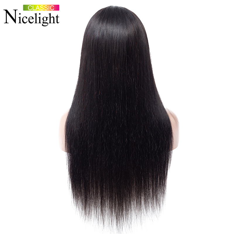 Straight Closure Wig Human Hair Wigs With Closure 4X4 Lace Wig Nicelight Indian Wig Remy Natural Straight Closure Wig Human Hair Wigs With Closure 4X4 Lace Wig Nicelight Indian Wig Remy Natural Hair Long Black Closure Wig