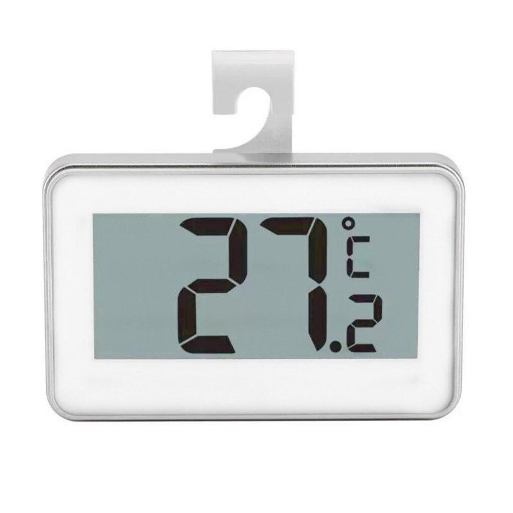 Цифровой ЖК-экран точный термометр для холодильника Регулируемая подставка магнит водонепроницаемый цифровой термометр