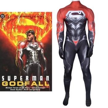 Superman Godfall Costume Superhero Suit Superboy Cosplay Suit Halloween SUPERMAN Zentai Bodysuit Adults