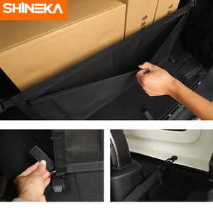 Image 3 - Car Covers For Jeep Wrangler JL 2019 2020 Car Multifunction Trunk Cargo Storage Net Cover Accessories For Jeep Wrangler JL 2018+