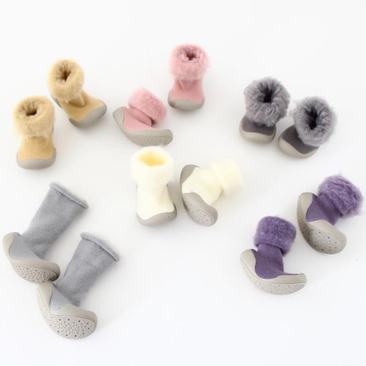 Baby Toddler Shoes Baby Shoes Non-slip Shoes Sock Floor Terry &velvet Shoes Foot Socks 5colors 5sizes  Tz04