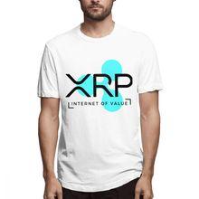 2019 New Men's Quality Ripple XRP Internet Of Value T shirt Leisure Man Short Sleeve Crewneck S-6XL Plus Size T-Shirt 2747S