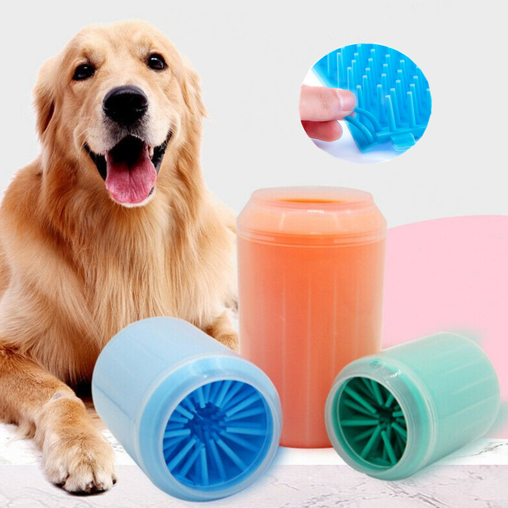 Portable Dog Paw Cleaner Soft Silicone Pet Foot Feet Washer Pet Dog Cleaning Brush Cup Quickly Cleaning Wash Tool S M L NEW