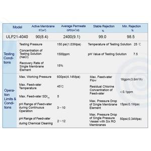Image 4 - Vontron Thẩm Thấu ULP21 4040 Màng RO Nguyên Tố 2400 GPD Cho Bình Lọc Nước